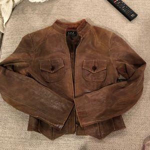 David Meister brown suede jacket